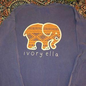 Ivory Ella Classic Fit Aztec Long Sleeve Tee